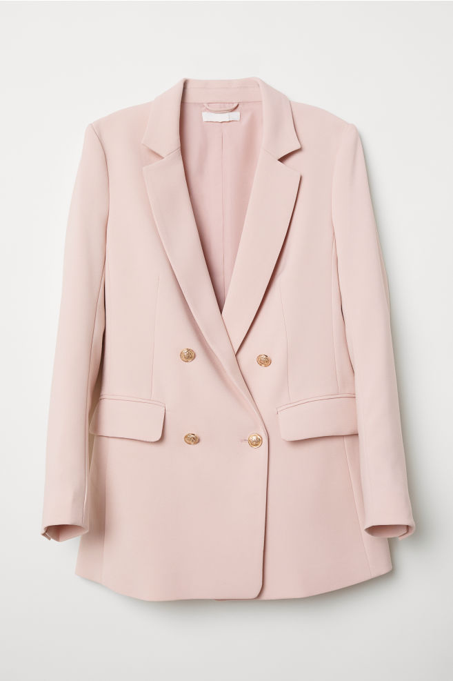 15fc02bbe06d0f Double-breasted Jacket - Light pink - Ladies