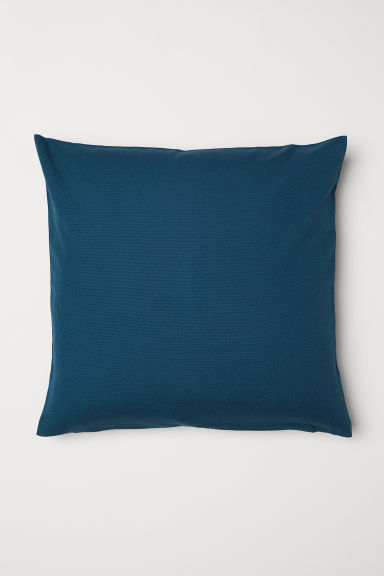 Canvas cushion cover - Dark petrol - Home All | H&M CN