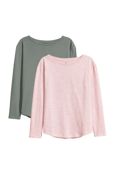 Tops, lot de 2 - Rose - ENFANT | H&M CH