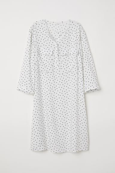 Shirt dress - White/Spotted - Ladies | H&M