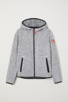Knitted fleece jacketModal