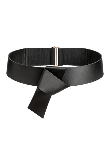 Waist belt with a knot - Black - Ladies | H&M