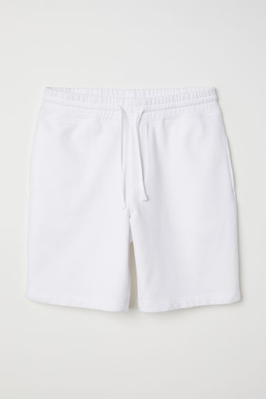 Sweatshirt shorts - White - Men | H&M