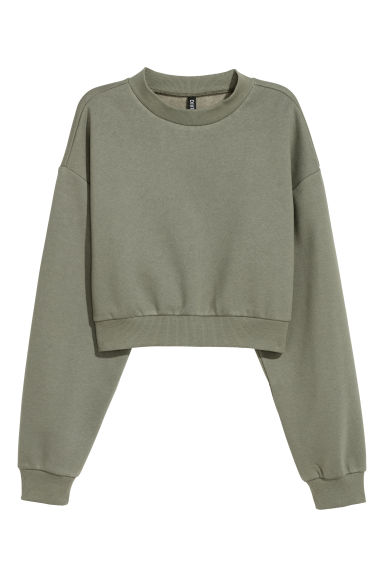 Turtleneck sweatshirt - Dark khaki green -  | H&M