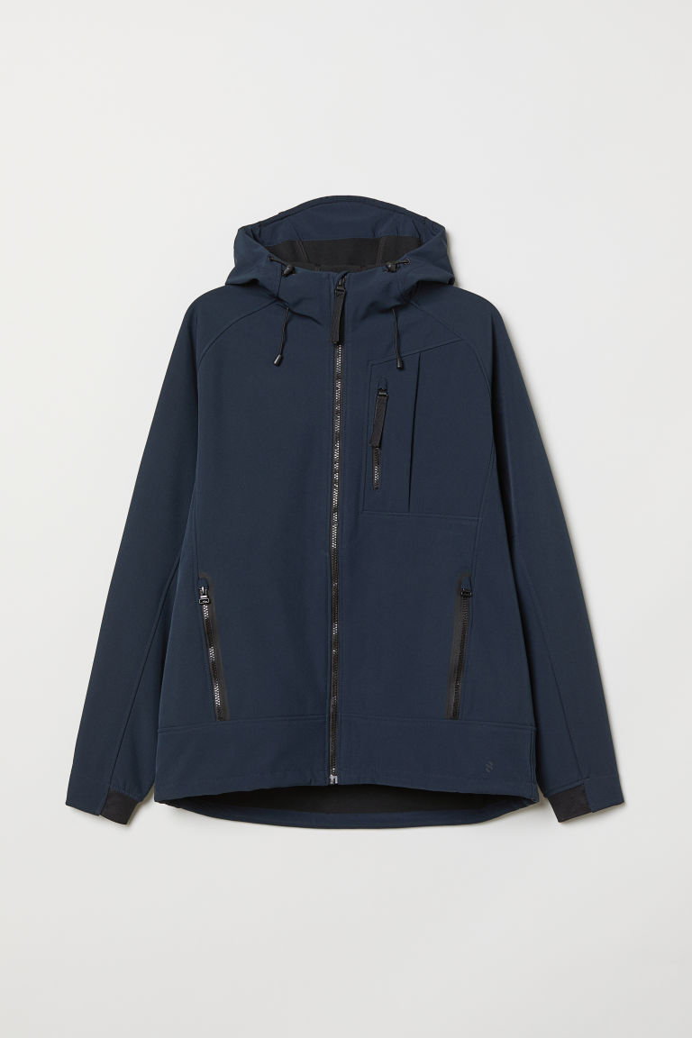 Softshell jacket - Dark blue - Men | H&M