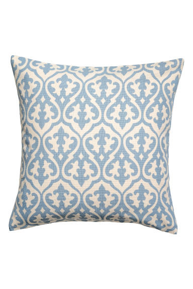 Patterned cushion cover - White/Blue patterned -  | H&M IE