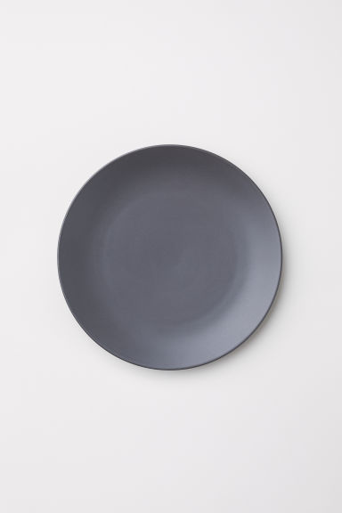 Porcelain plate - Dark grey - Home All | H&M GB