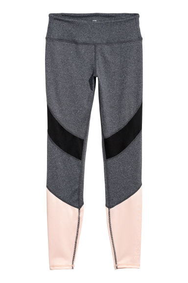 Sports tights - Grey marl/Powder pink -  | H&M IE