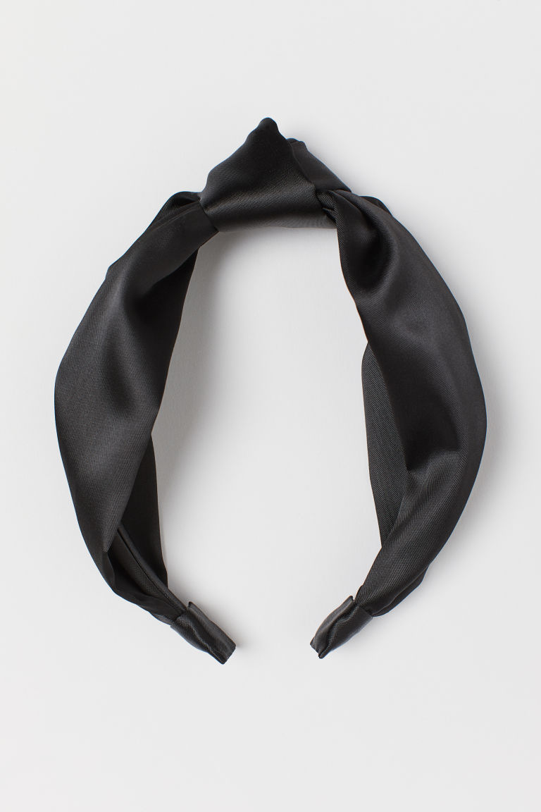 Alice band with a knot - Black - Ladies | H&M GB