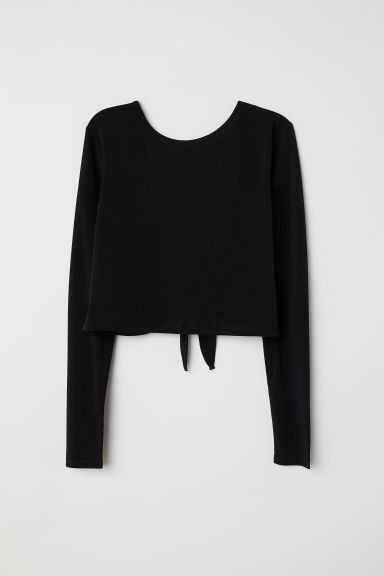 Top con scollo a V dietro - Nero -  | H&M IT