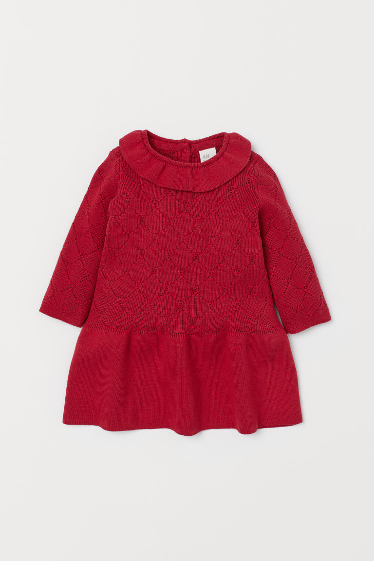 Pointelle dress - Red - Kids | H&M