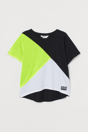 Block-coloured top