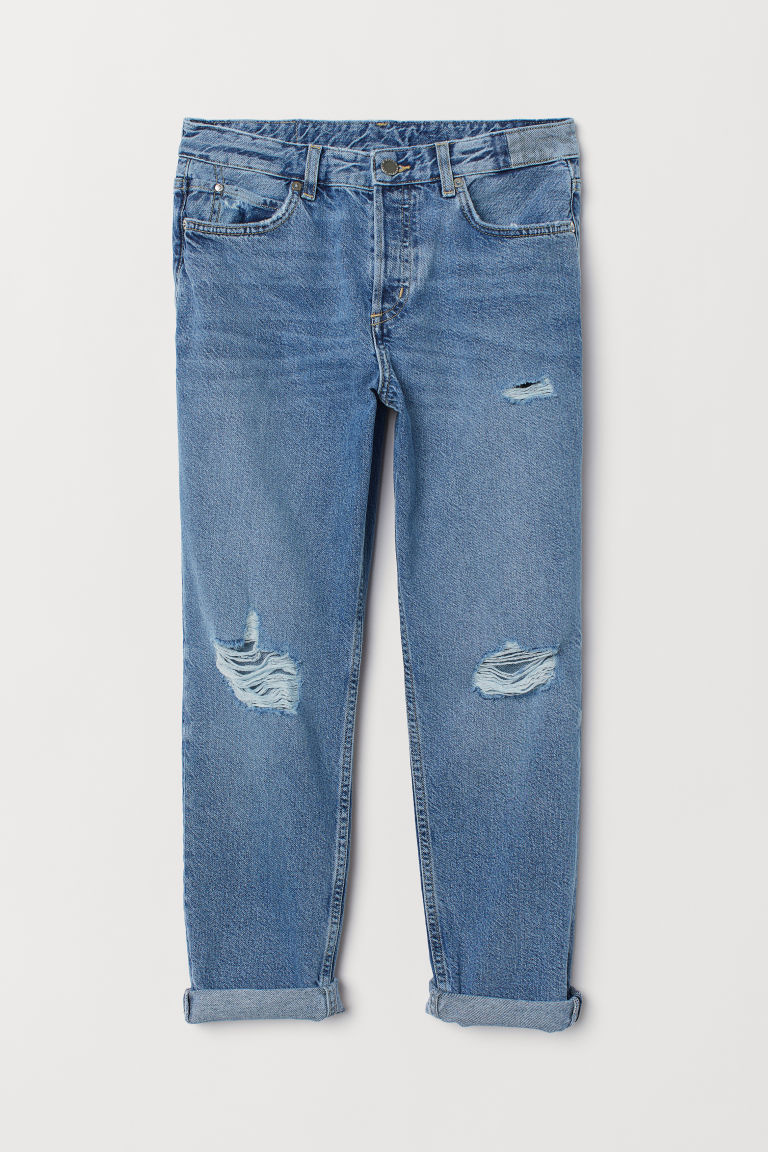 Jeans Boyfriend Low - Azul denim claro -  | H&M MX