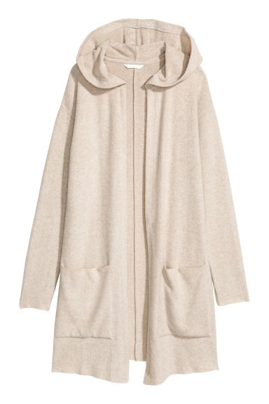 Hooded cardigan - Light beige - Ladies | H&M GB