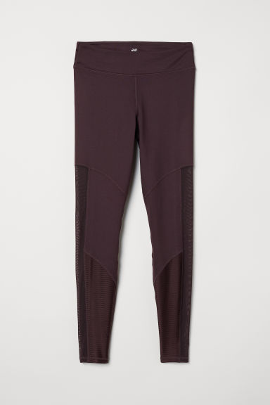 Yogalegging - Donker bordeauxrood - DAMES | H&M BE