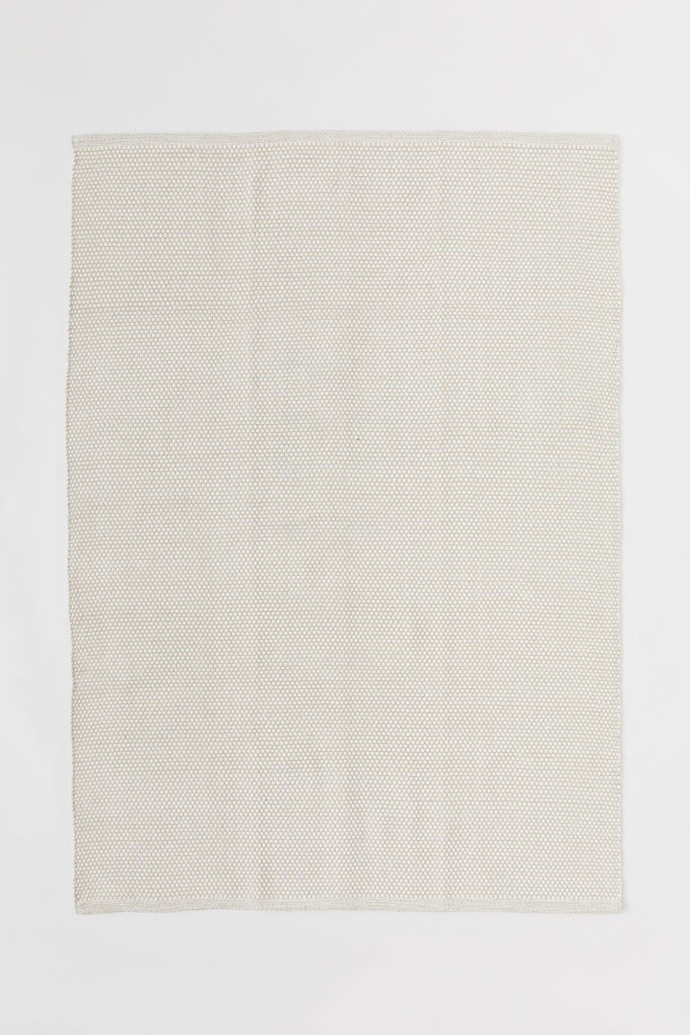 Cotton rug - Natural white - Home All | H&M GB
