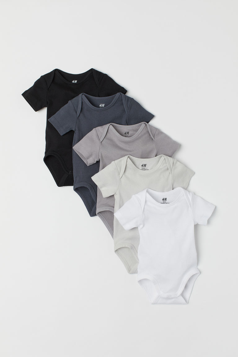 5-pack bodysuits - Dark grey - Kids | H&M