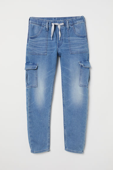 Cotton cargo joggers - Denim blue - Kids | H&M