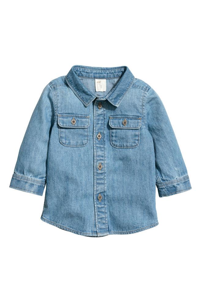 33328af035b3 Denim Shirt - Light denim blue -   H&M ...