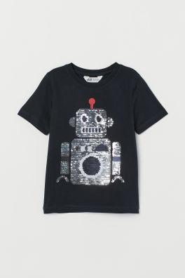 T Shirt With Motif