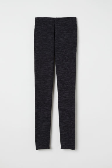 Jersey leggings - Black marl -  | H&M