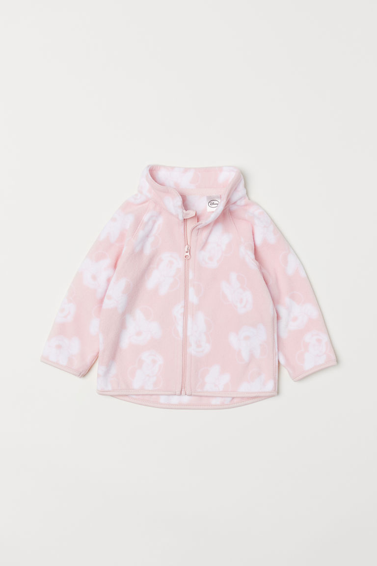 Fleece jacket - Pink/Minnie Mouse - Kids | H&M