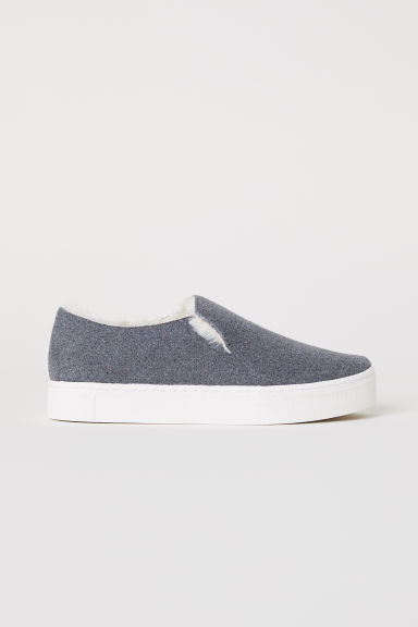 Warm-lined slip-on trainers - Grey - Ladies | H&M CN