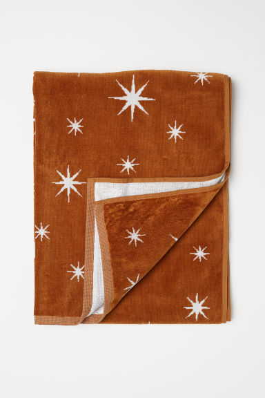 Jacquard-weave bath towel - Brown/Stars - Home All | H&M CN