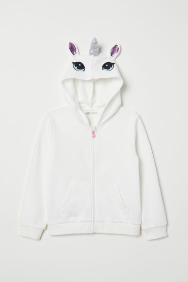 Hooded jacket - White - Kids | H&M