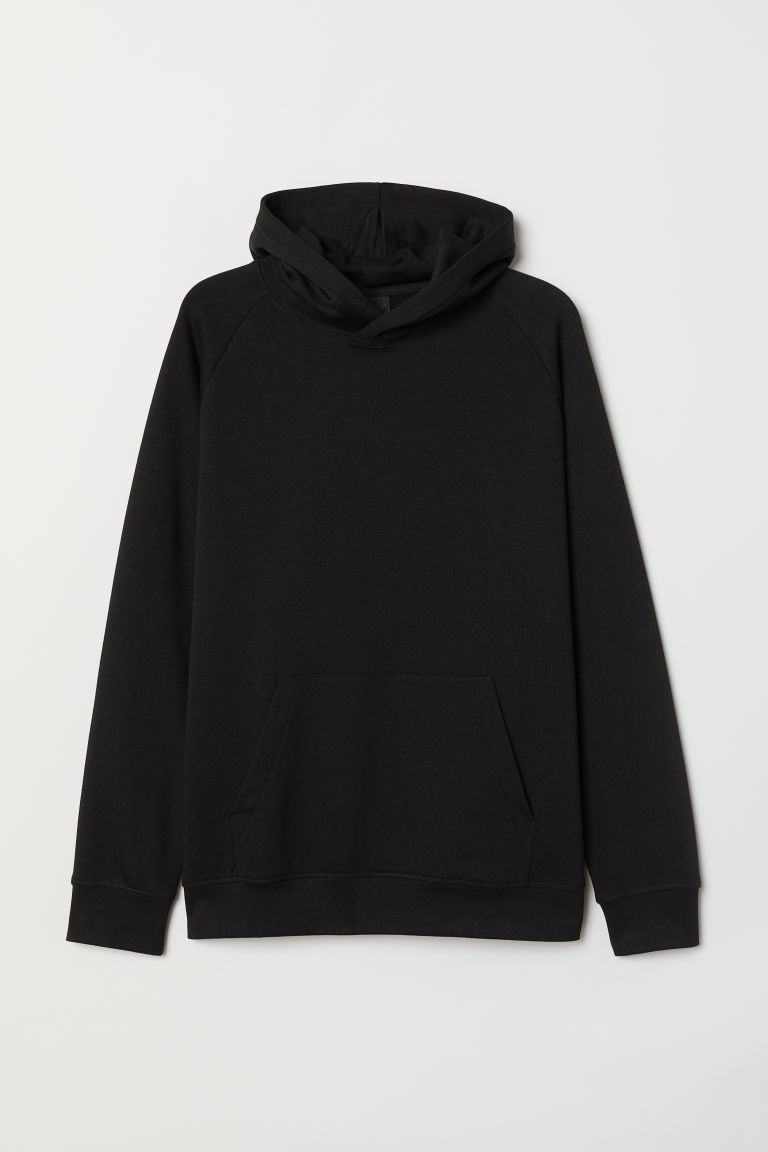 Hooded top Loose fit - Black - Men | H&M