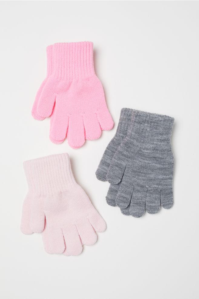 eadaf61edc48 3-pack gloves - Pink/Grey - Kids | H&M ...
