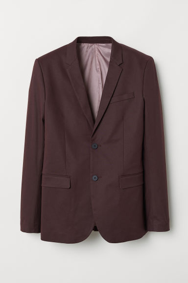 Blazer Skinny Fit - Bordeaux - UOMO | H&M IT