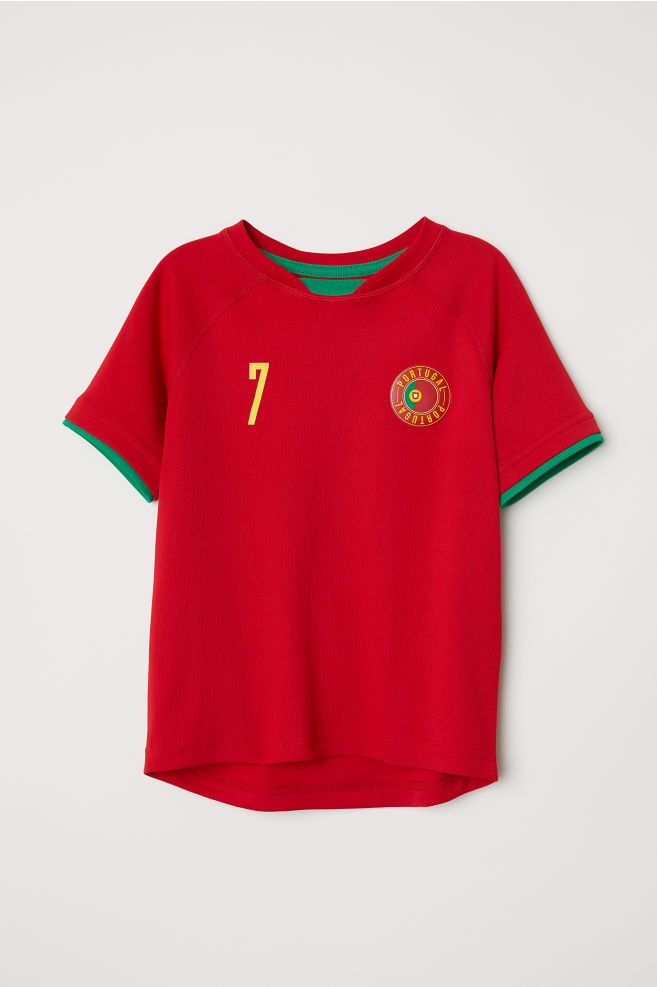 4c3b60694ff62 Maillot de football - Rouge Portugal - ENFANT
