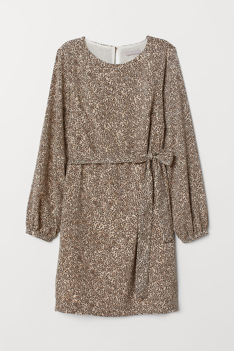 Patterned dress - Beige/Leopard print - Ladies | H&M