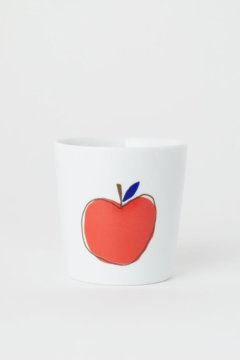 Taza de porcelana - Blanco/Manzana - Home All | H&M MX