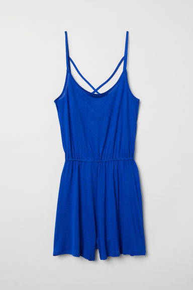 Patterned playsuit - Cornflower blue -  | H&M CN