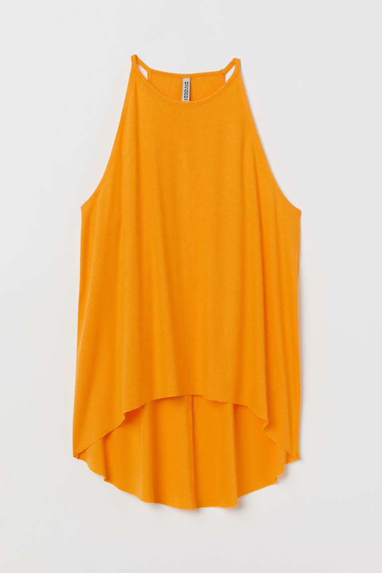 Ribbed Jersey Tank Top - Yellow -  | H&M US