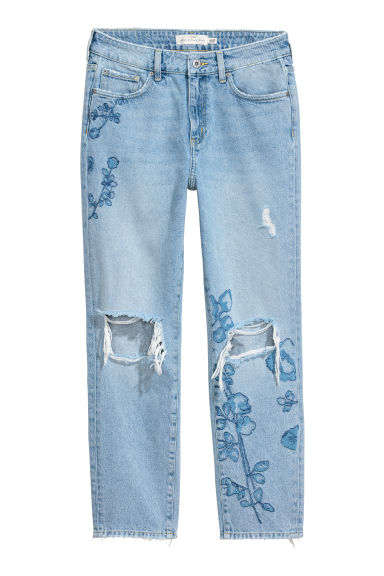 Straight Regular Ankle Jeans - Azul denim claro - SENHORA | H&M PT