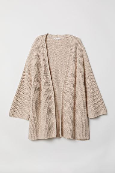 Ribbed cardigan - Light beige - Ladies | H&M
