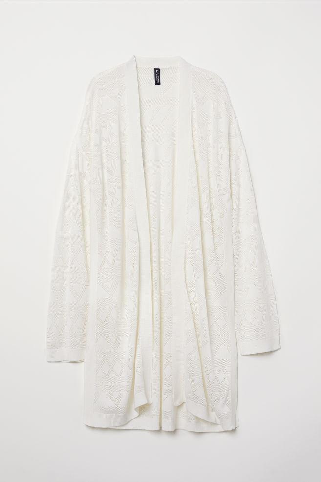 cb2930633ca0 Fine-knit cardigan - White - Ladies