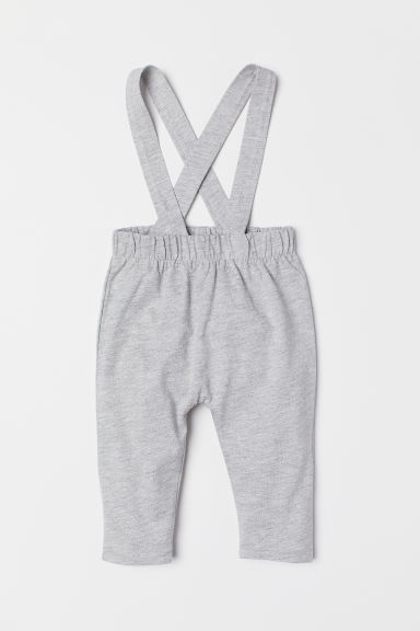 Trousers with braces - Light grey marl - Kids | H&M CN