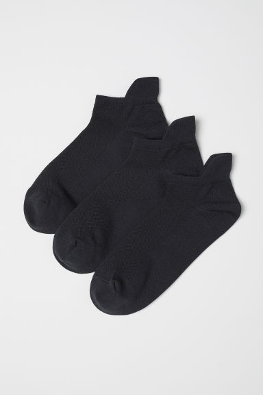3-pack sports socks - Black - Ladies | H&M CN