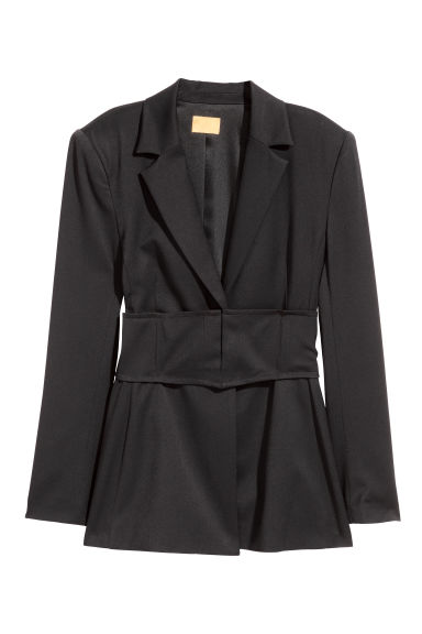 Cummerbund jacket - Black - Ladies | H&M CN