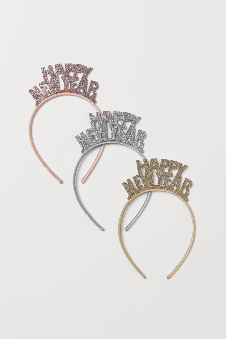 3-pack Alice bands - Silver/Gold-colour/Light pink - Ladies | H&M CN