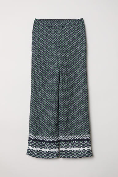 Patterned trousers - Green/Patterned - Ladies | H&M