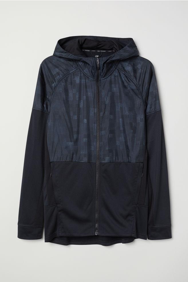 2c179c6faec69 Chaqueta deportiva con capucha - Azul oscuro Negro - HOMBRE