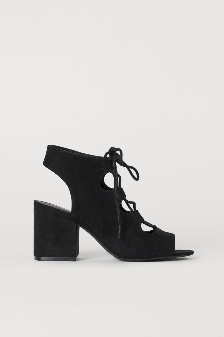Sandals with Lacing - Black - Ladies | H&M CA