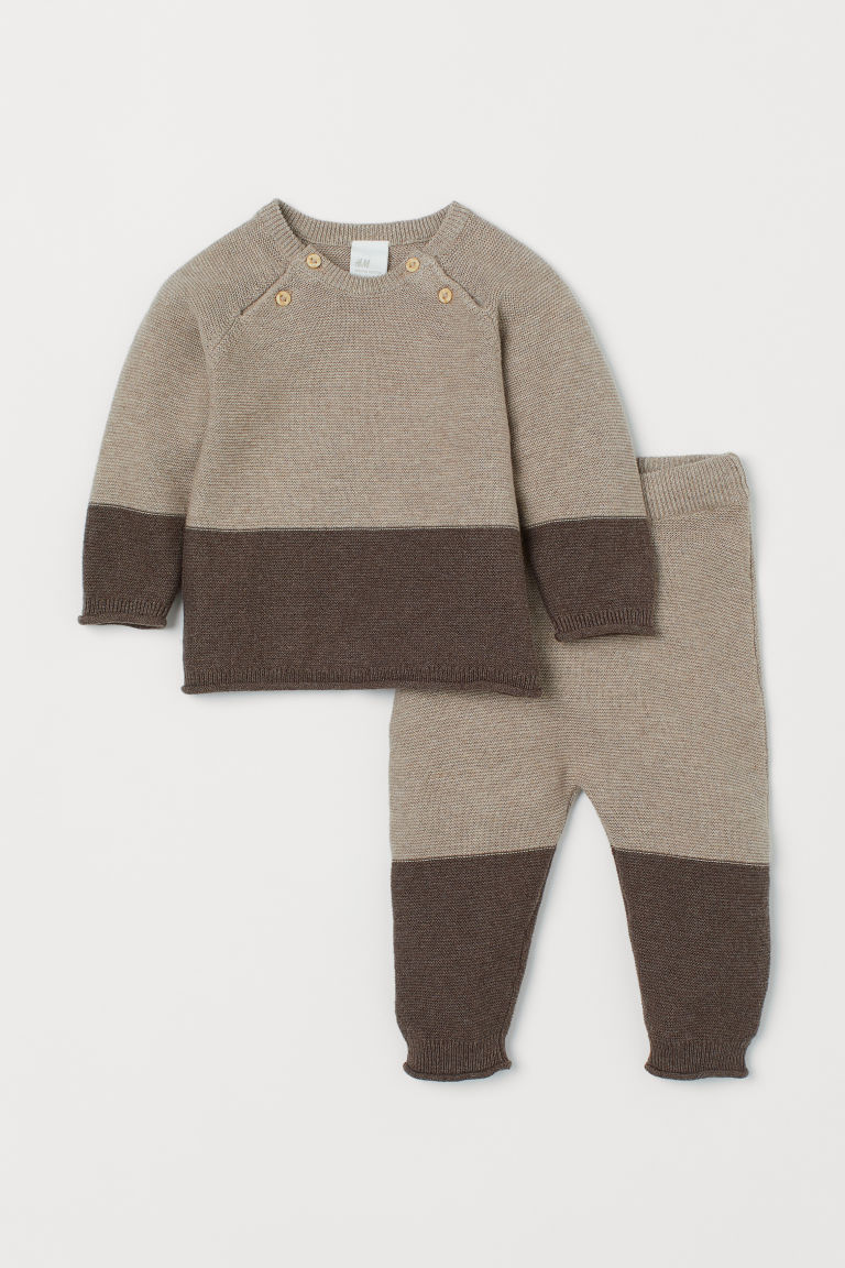 Sweater and Pants - Beige - Kids | H&M CA