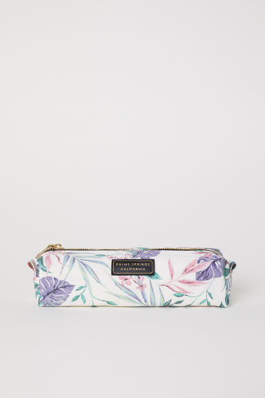 Pencil case - White/Floral - Ladies | H&M CN