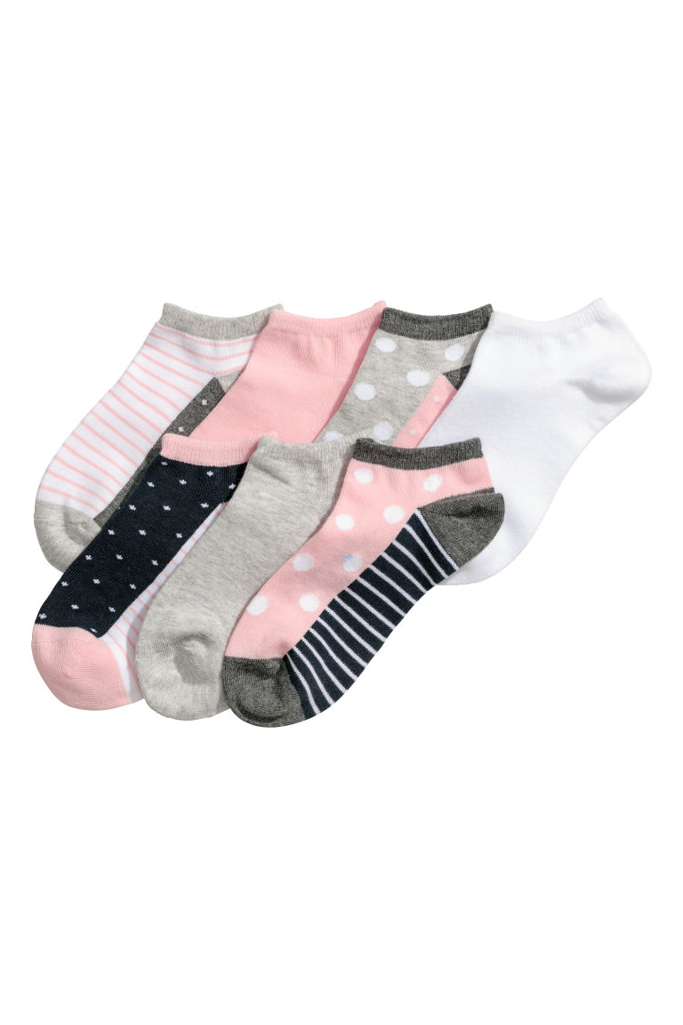 7-pack trainer socks - Grey/Patterned - Kids | H&M